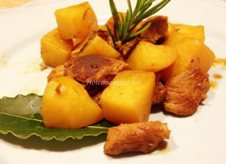 agnello con patate in padella3