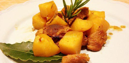 agnello con patate in padella3