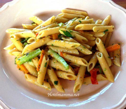 pasta integrale alla verdura
